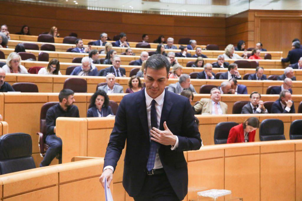 El Gobierno solicita la comparecencia de Sánchez ante el Pleno del Senado sobre política general