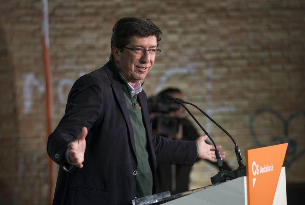 Juan Marín (Cs): «Con un solo punto que crezcamos, tendremos los escaños suficientes para el cambio»