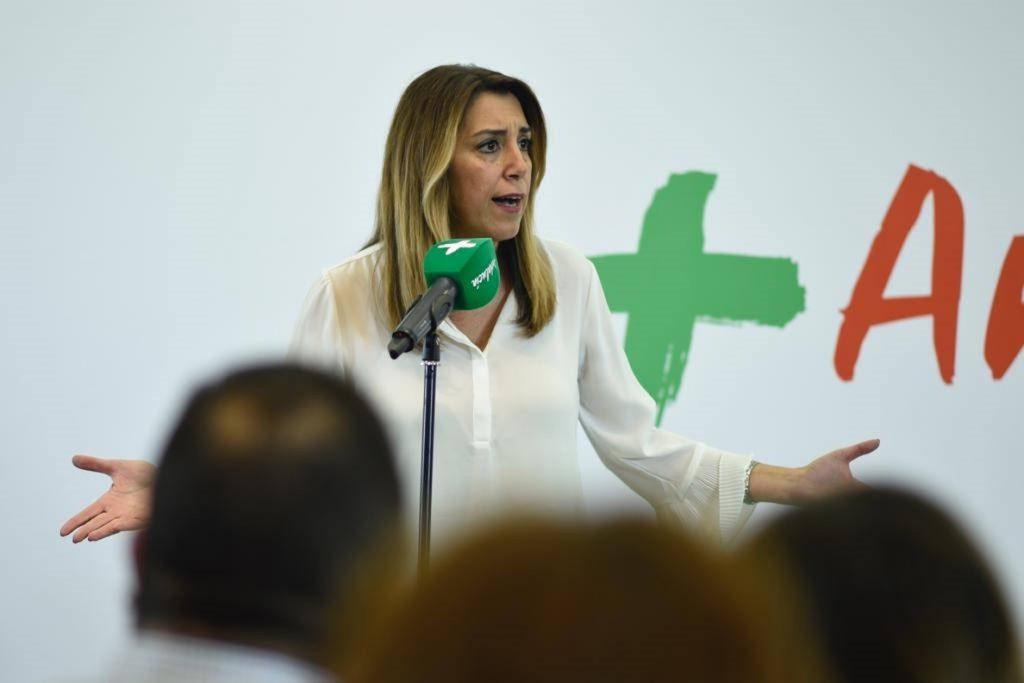 Susana Díaz afirma que no estaría «encantada» de recibir votos de la ultraderecha y reclama el voto de progresistas