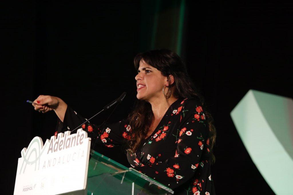 Teresa Rodríguez exige a Susana Díaz aclarar si «volverá a entregarle el Gobierno andaluz a la derecha neoliberal»