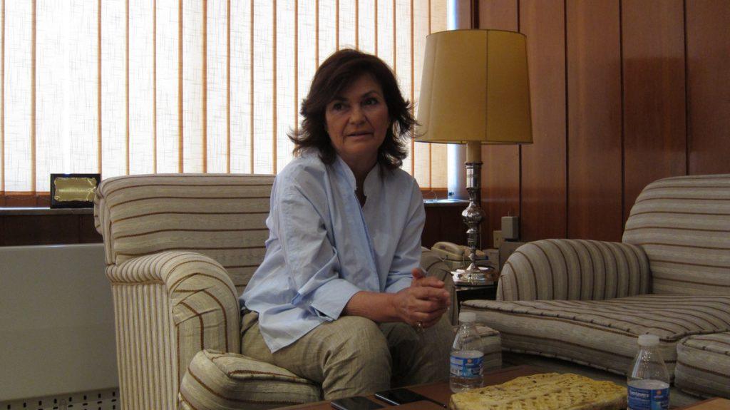 Carmen Calvo afirma que las huelgas en Cataluña muestran la «necesidad de normalización» que tiene