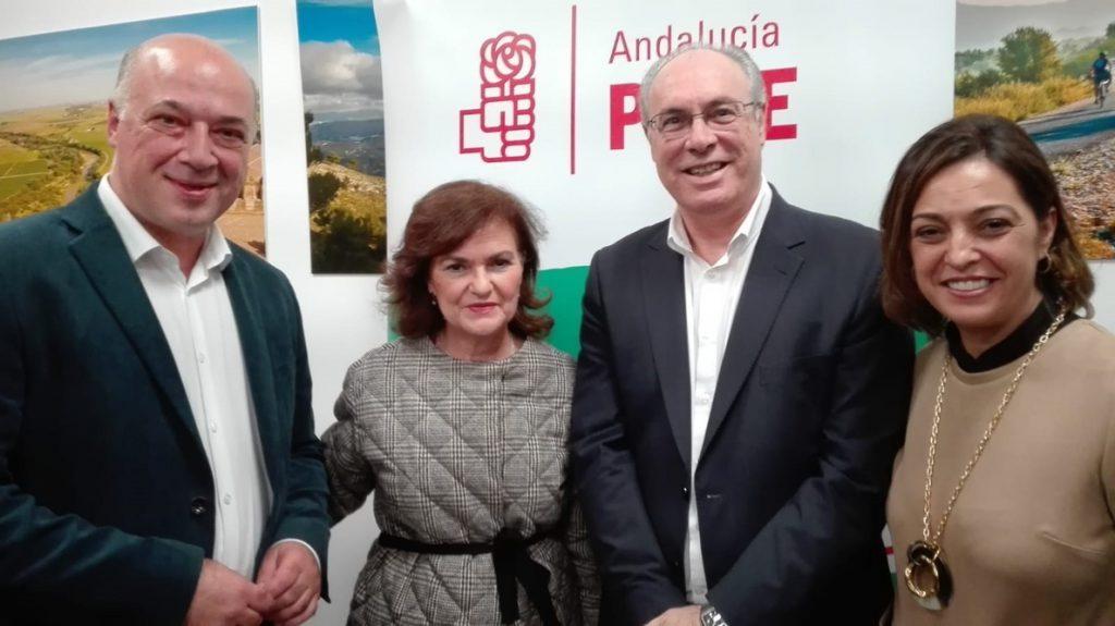 Carmen Calvo pide el voto para Susana Díaz, como «freno a una derecha que se ha radicalizado»