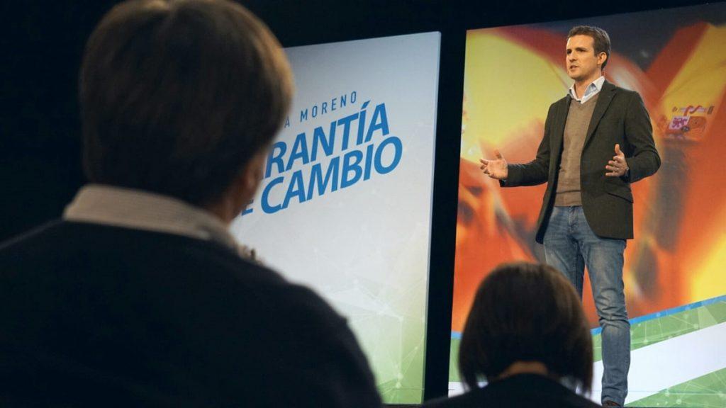 Casado dice que si el PP logra «el cambio real» en Andalucía al «inquilino de la Moncloa le quedan dos telediarios»