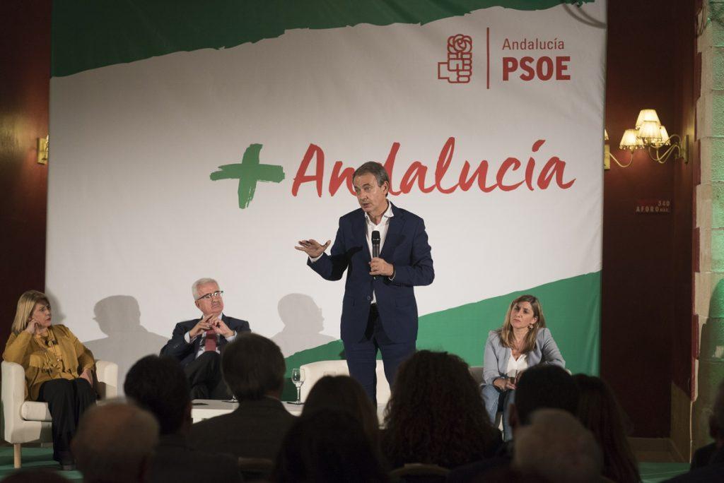 Zapatero reivindica la labor del PSOE-A por trabajar en el pluralismo y la convivencia: «la gran referencia social»
