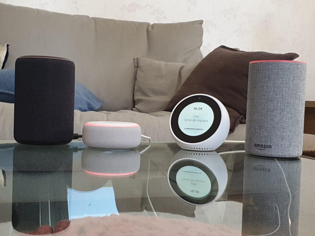 Los altavoces Amazon Echo, compatibles con Apple Music a través de Alexa