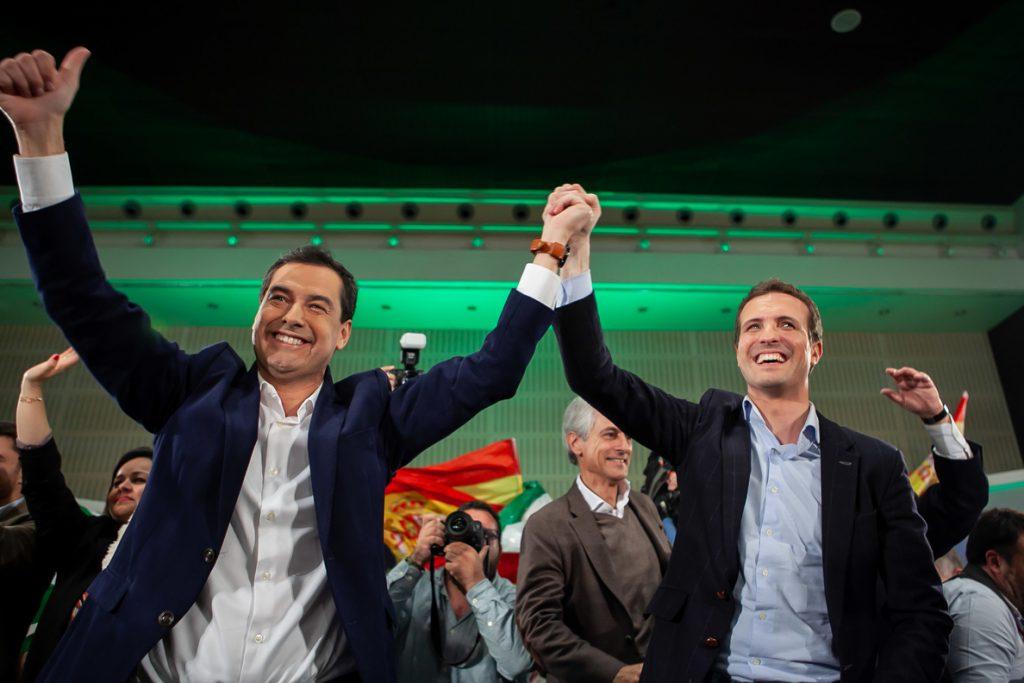 Casado pide coger la «papeleta» del PP-A para «echar a Susana, Pedro, Iglesias, los independentistas y Bildu»