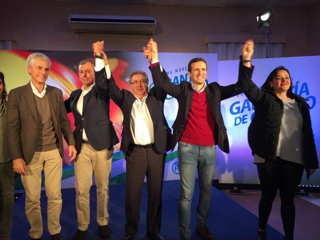 Casado pide un cambio para «una Andalucía de primera»
