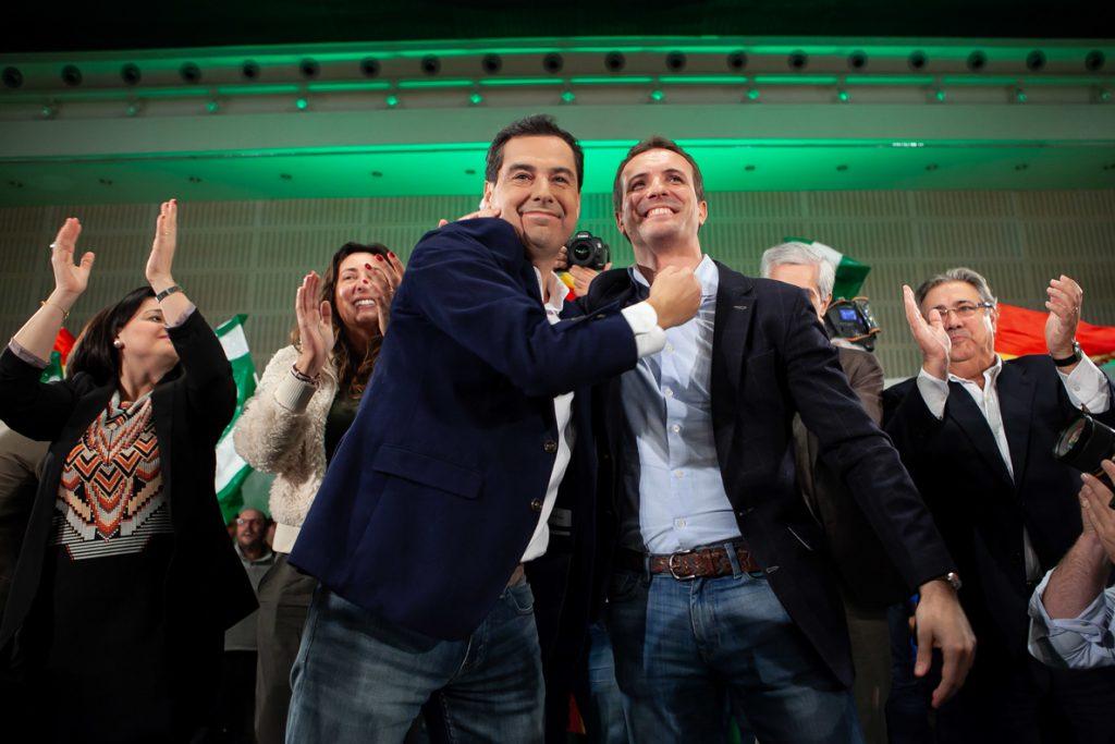 Moreno (PP-A) pide el voto al único cambio real frente al «Susanemos», la alianza de «riesgo» de PSOE y Podemos