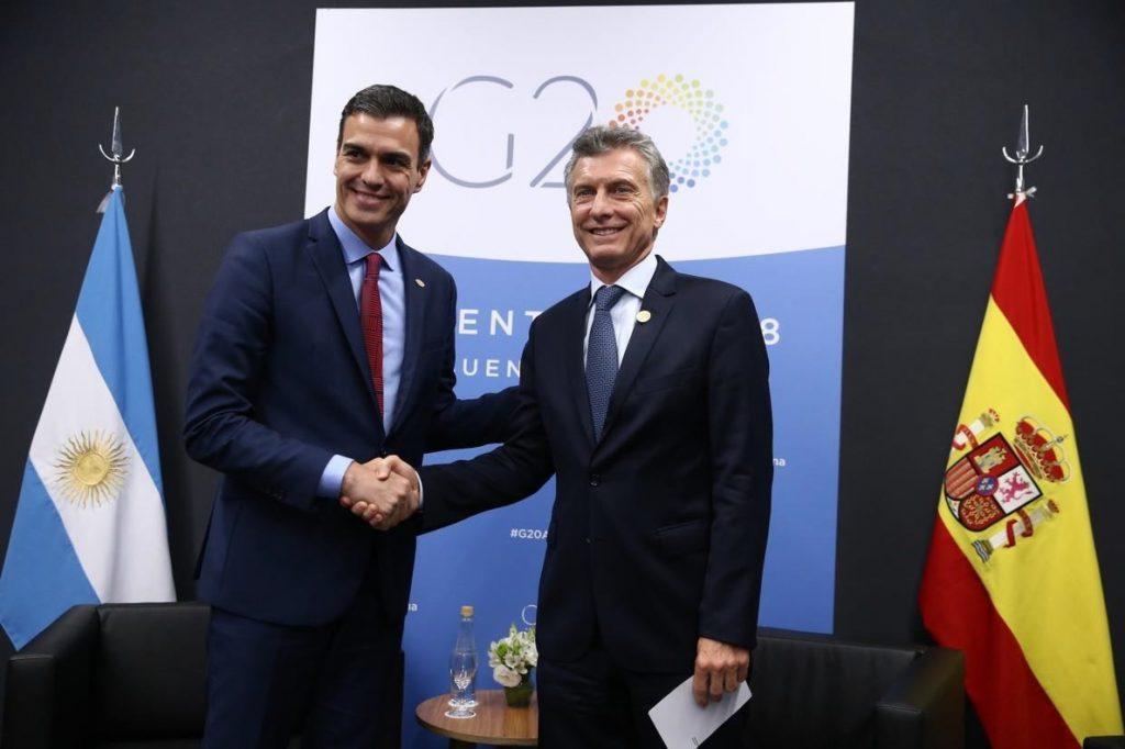 Sánchez y Macri abordan una mayor cooperación empresarial en infraestructuras