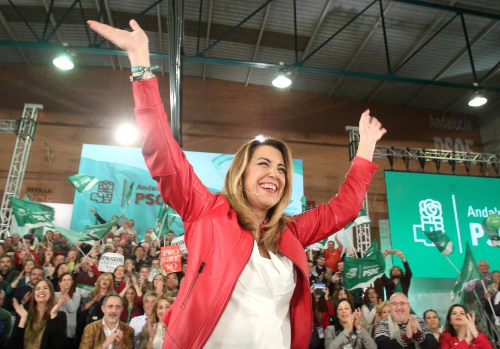Susana Díaz pide acudir masivamente a las urnas para decir con claridad que la derecha «no frenará» a Andalucía