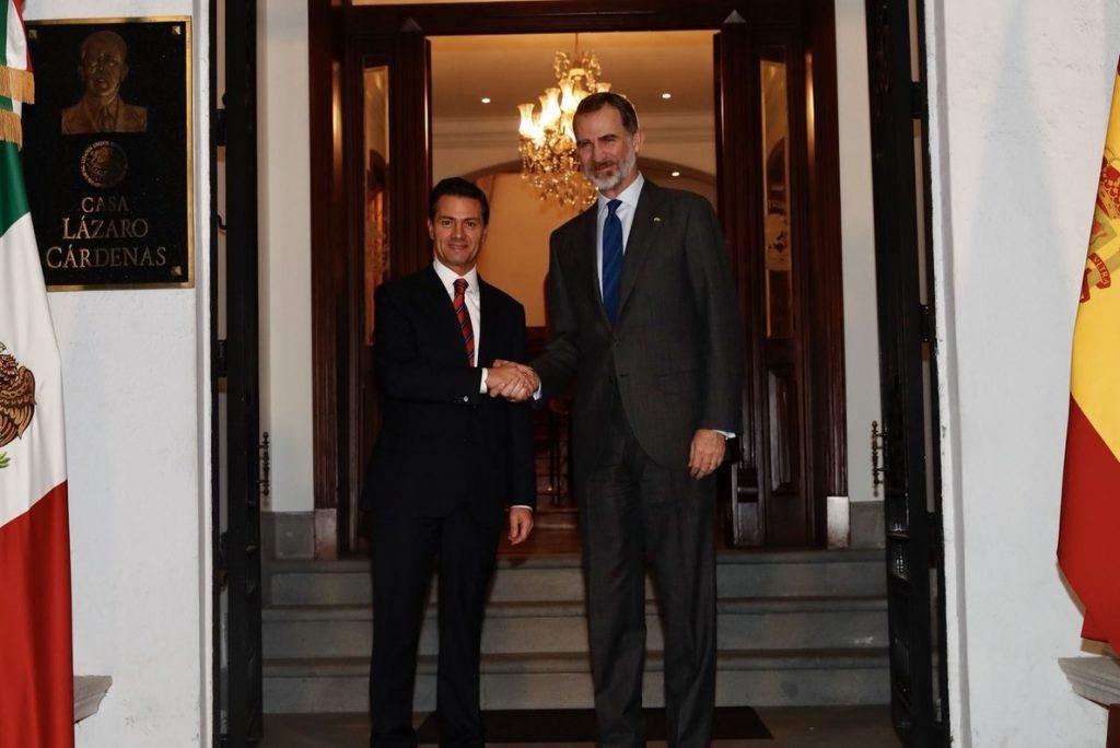 El Rey se reúne con Peña Nieto en su último día como presidente de México