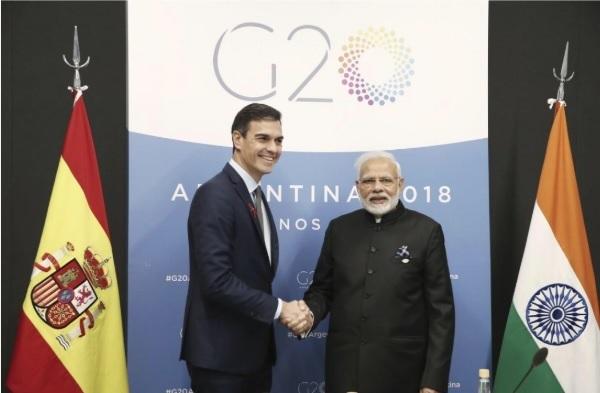 Sánchez se reúne con el primer ministro de India para «estrechar y profundizar» las relaciones entre los dos países