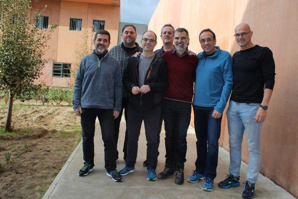 Los presos independentistas harán acciones de protesta contra el juicio al proceso soberanista