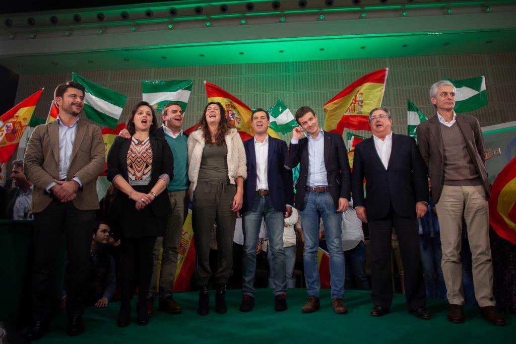 Casado, García Egea y Maroto ya están en 'Génova' para seguir el recuento electoral de las andaluzas