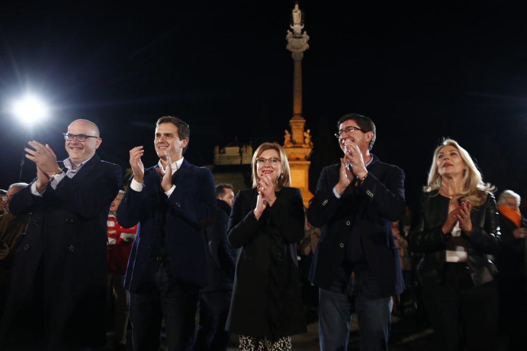Cs duplica sus resultados en Andalucía y puede decidir un cambio histórico con la llegada al poder de la derecha