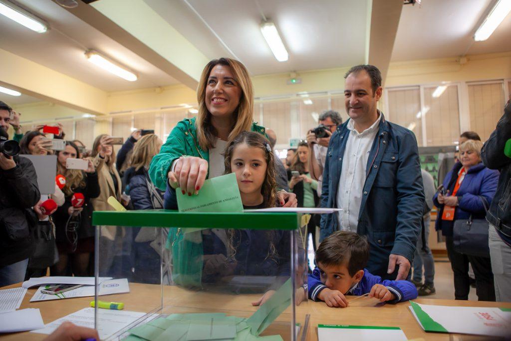 Díaz, segura de que los andaluces votarán masivamente para que nadie «bloquee» esta tierra ni se genere «crispación»