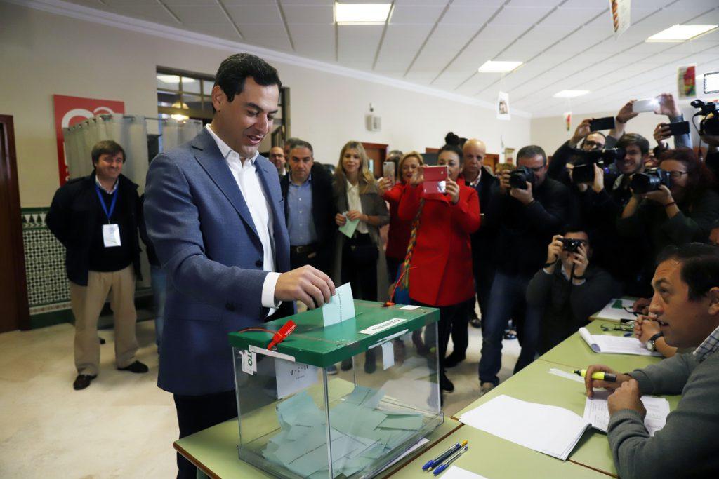Moreno (PP-A) pide a los andaluces que salgan a votar «masivamente» y ejerzan su derecho con «responsabilidad»