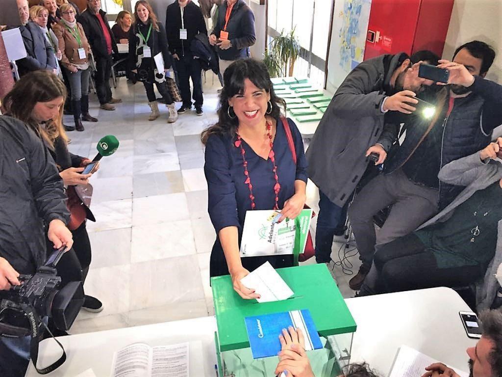 Teresa Rodríguez desea que «haya participación masiva» porque «es importante que los andaluces hagan política»