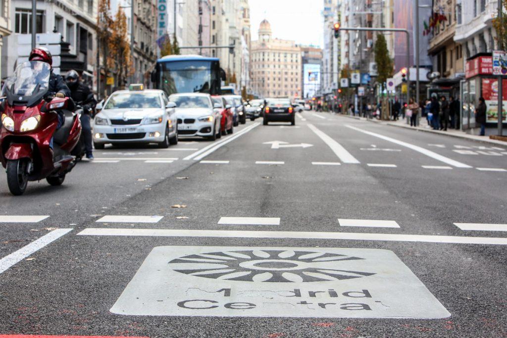Tráfico «muy fluido» en Madrid Central y alrededores con hasta un 47% menos de coches en la Gran Vía este sábado