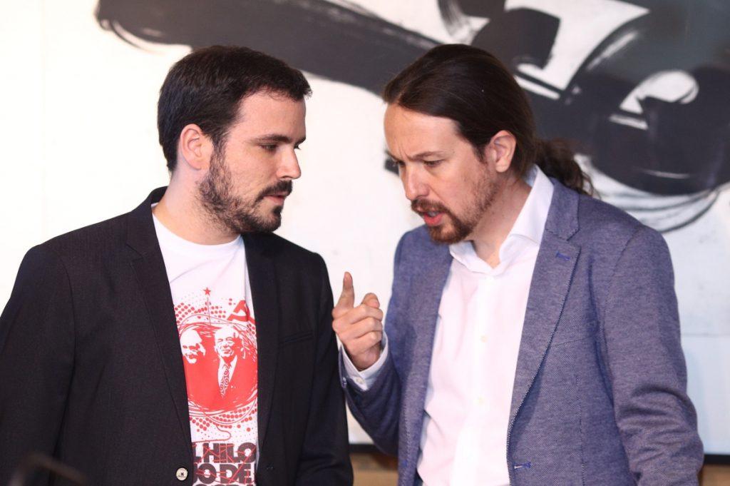Iglesias y Garzón encabezarán la delegación de Unidos Podemos para el Día de la Constitución en el Congreso y con el Rey