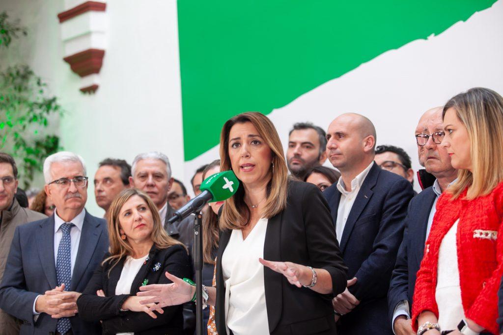 Susana Díaz se ve con confianza para seguir «liderando» el PSOE-A: «Si hubiera perdido me habría ido»