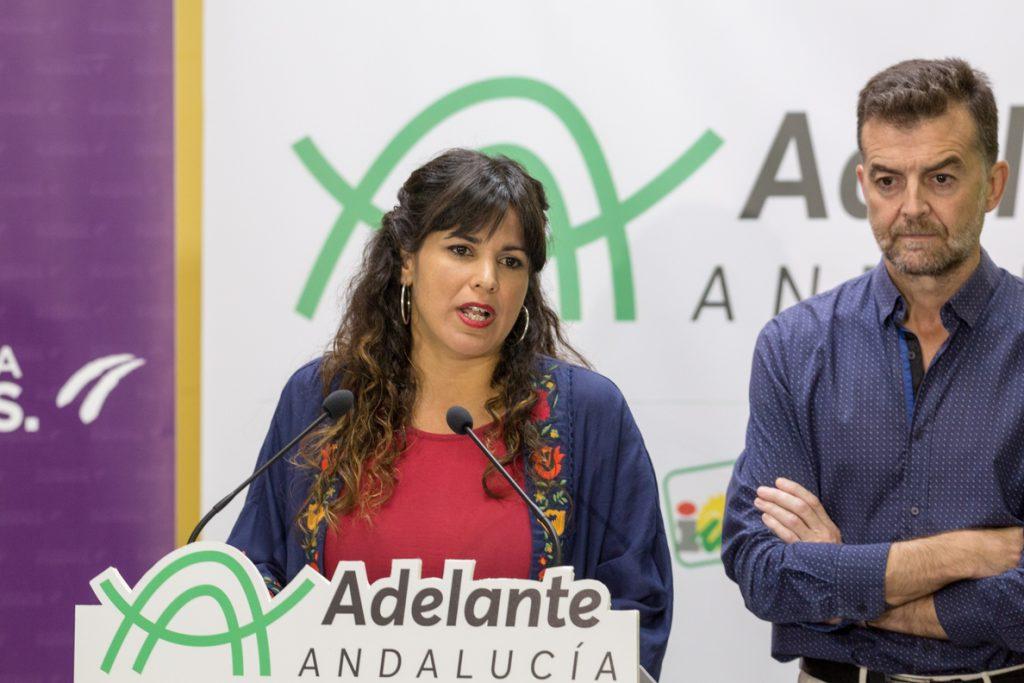 Teresa Rodríguez asegura que Adelante no votará ni facilitará una investidura de Ciudadanos