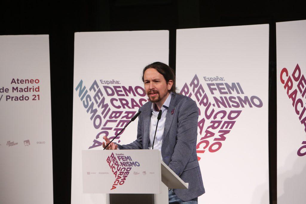 Pablo Iglesias dice que el feminismo es la «mejor vacuna» contra «movimientos reaccionarios», en alusión a Vox