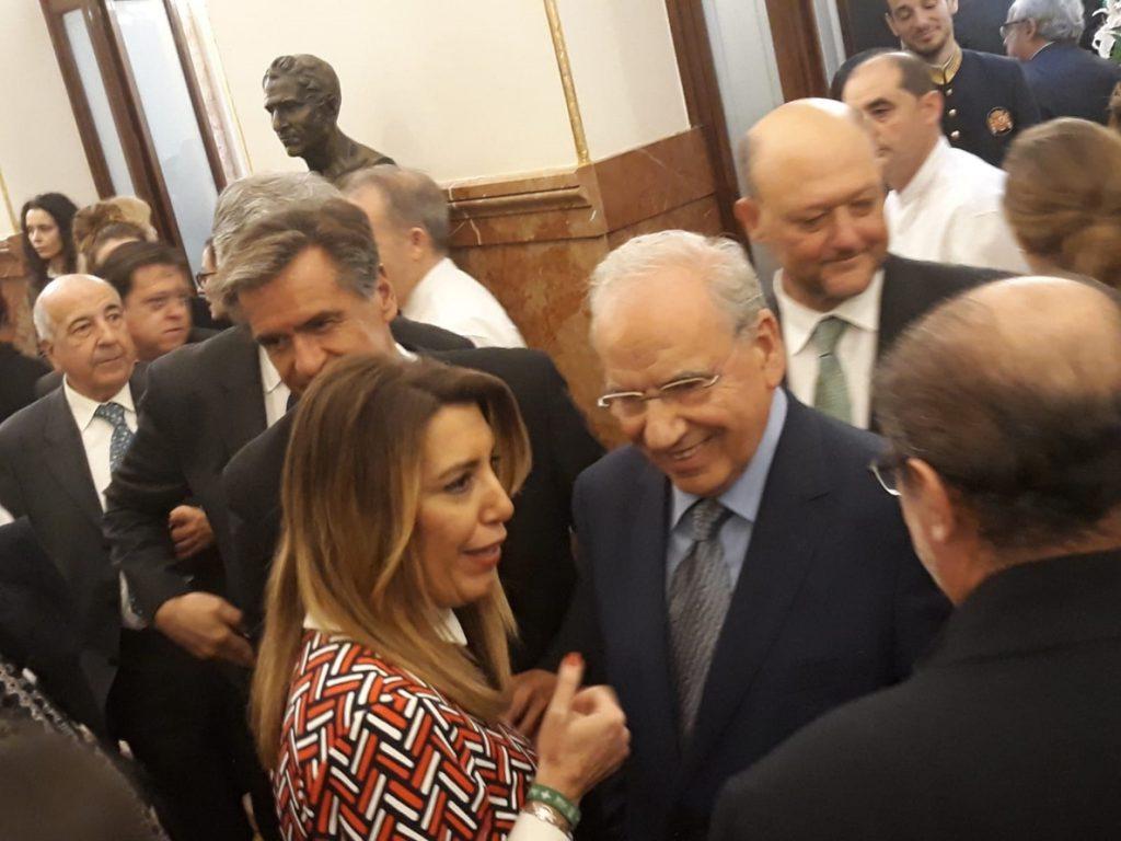 Susana Díaz, en el acto de la Constitución: «Estoy fuerte, segura y tranquila»