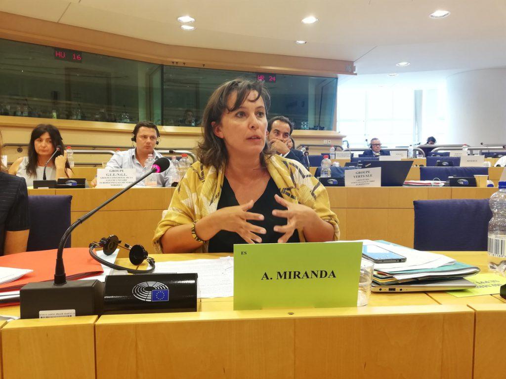La eurodiputada Ana Miranda (BNG) reclama medidas contra la corrupción, que le cuesta 904.000 millones al año a la UE