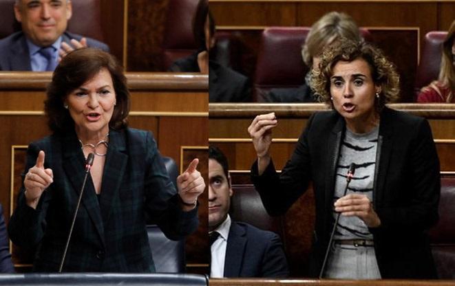 Montserrat pide la dimisión de ministros afectados por «escándalos» y Calvo recuerda los «delitos» de ministros del PP