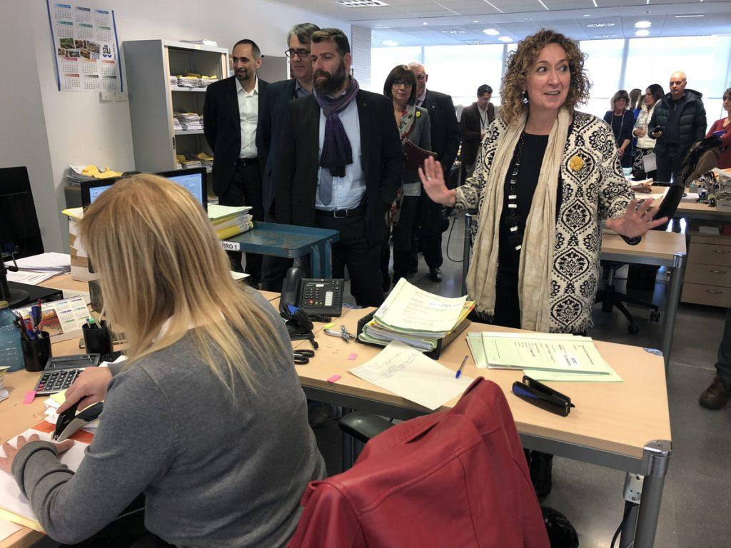 La consellera Capella descarta que jueces y fiscales estén «en una situación de riesgo» en Cataluña