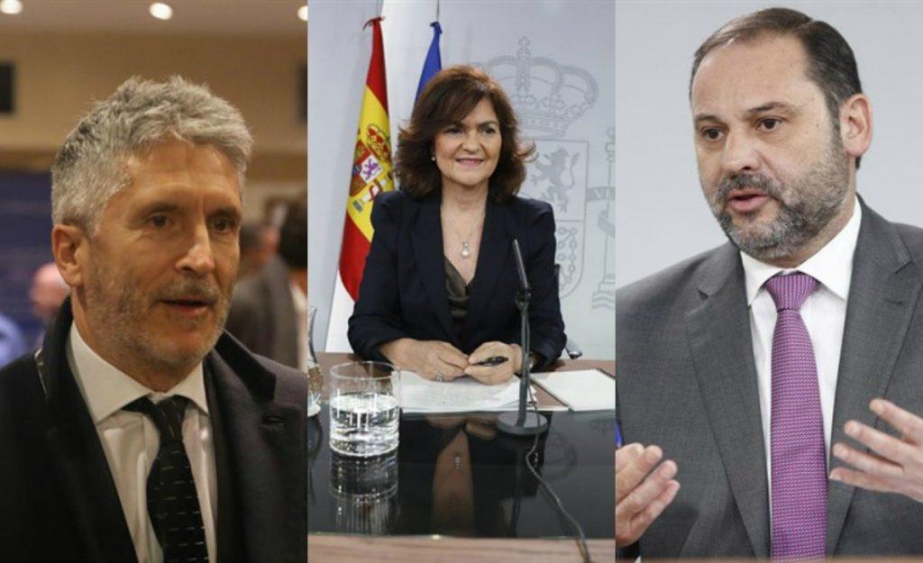 Los ministros Ábalos, Calvo y Grande-Marlaska participan en varios actos en Valencia este lunes