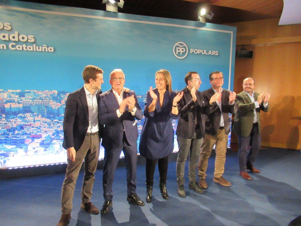 Casado defiende al PP como «el paraguas más fuerte» del constitucionalismo en Barcelona