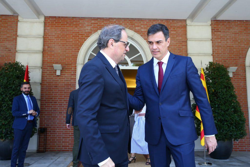 El Govern catalán negocia una reunión que incluya a Sánchez, Torra, tres ministros y tres consellers