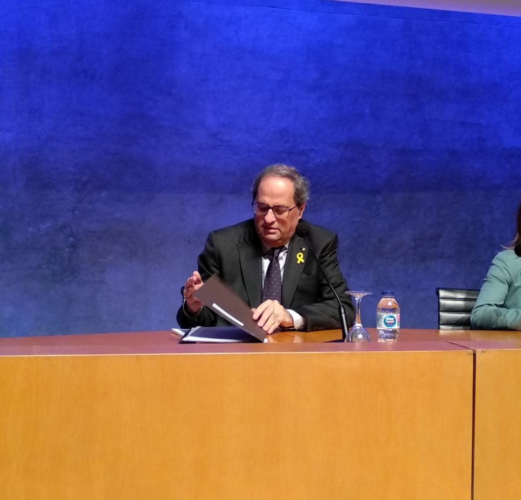 Torra se querellará contra Pablo Casado por calificarle de «desequilibrado»