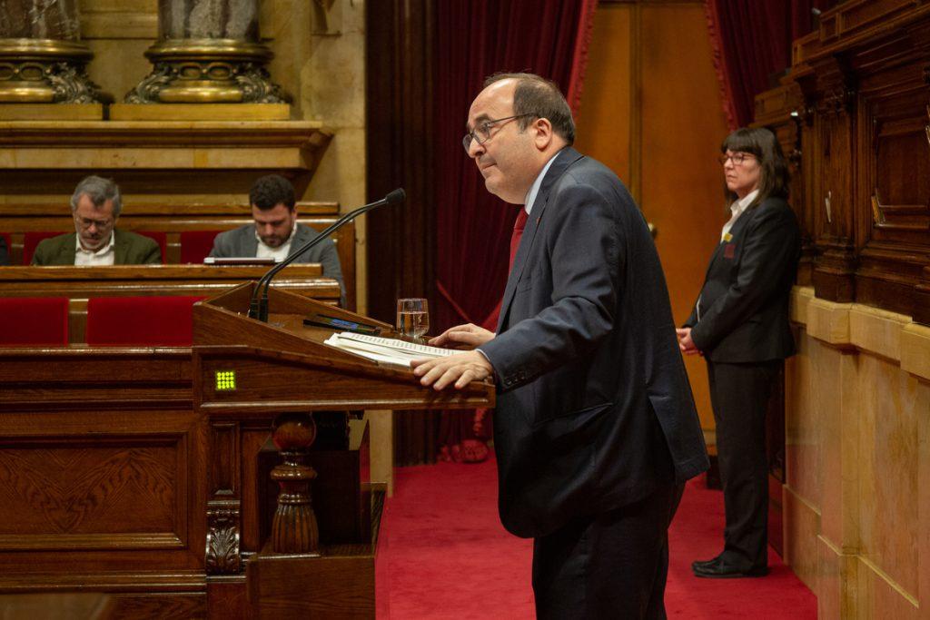 Iceta pide acuerdos que reúnan a dos tercios del Parlament y no al «80% de una encuesta»