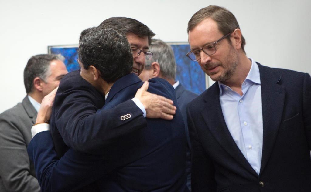 PP y Cs alcanzan un «principio de acuerdo» programático en Andalucía que esperan cerrar este viernes