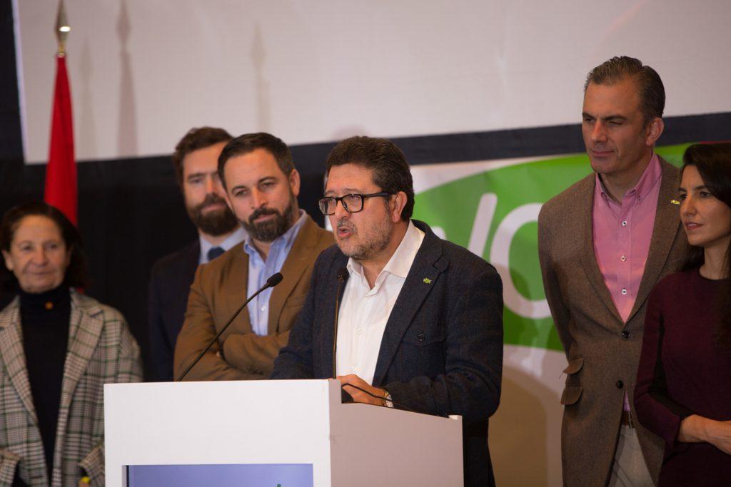 Vox avisa que el «maltrato» de Cs y el «desprecio» de PP a sus votantes podrían abocar a Andalucía a nuevas elecciones