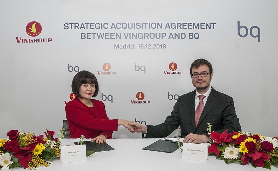 La vietnamita Vingroup se convierte en socio mayoritario de la matriz de BQ tras comprar un 51%