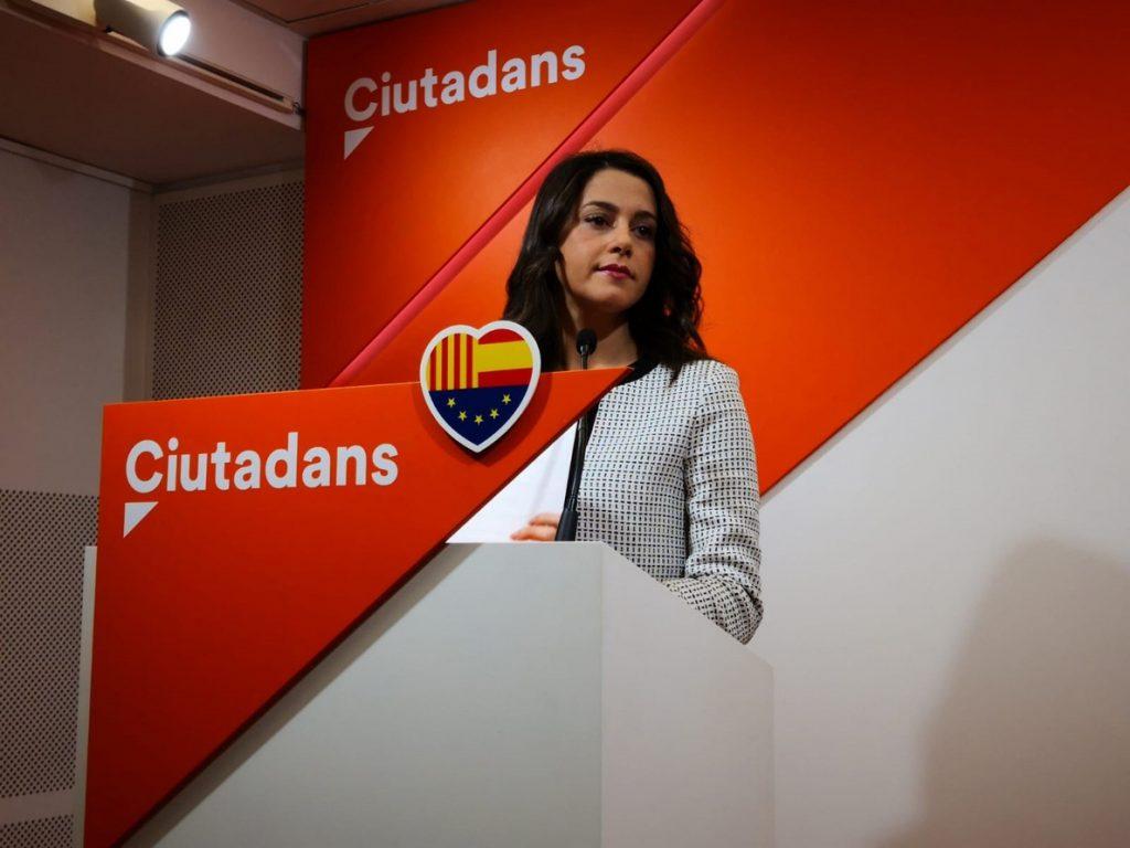 Arrimadas (Cs) cree que el 21D «fue el día soñado de Torra y la pesadilla» de los catalanes