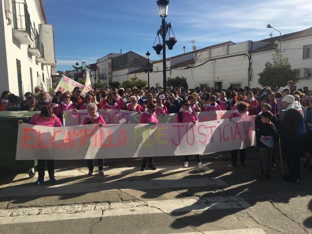 Más de 2.000 personas participan en la marcha desde Nerva a El Campillo (Huelva) en honor a Laura Luelmo