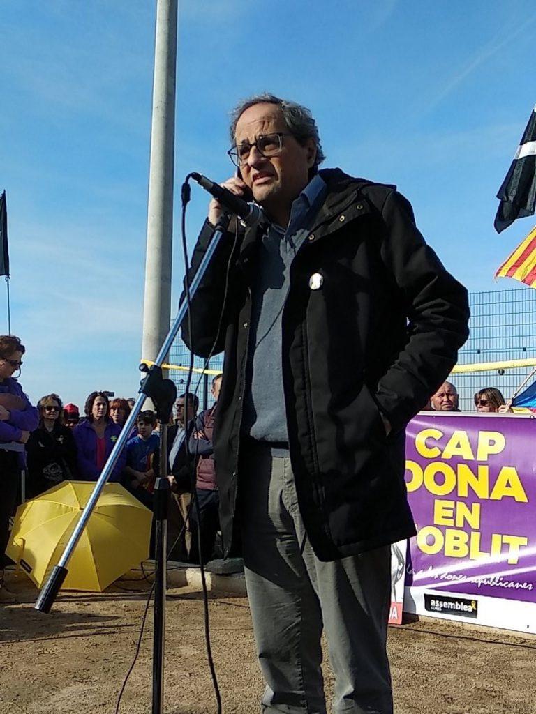 Torra apela a «la paz, el diálogo y la no violencia» tras visitar a Forcadell en la cárcel
