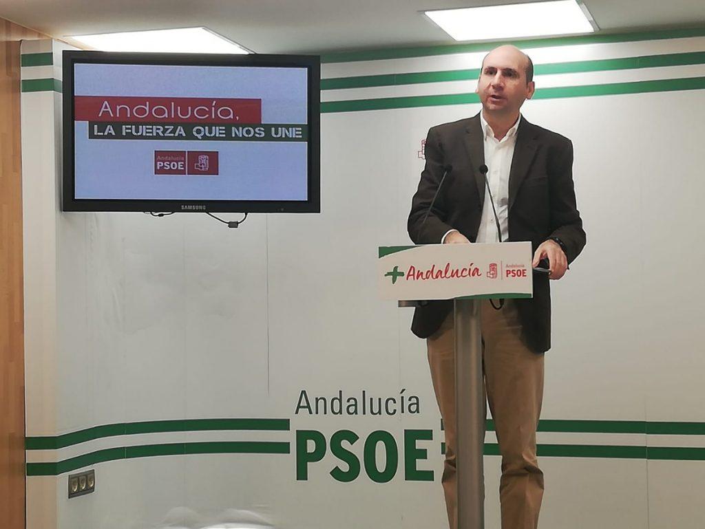 PSOE-A critica el «pacto de la vergüenza» de PP y Cs y les pide que «no tapen el acuerdo con la extrema derecha de Vox»