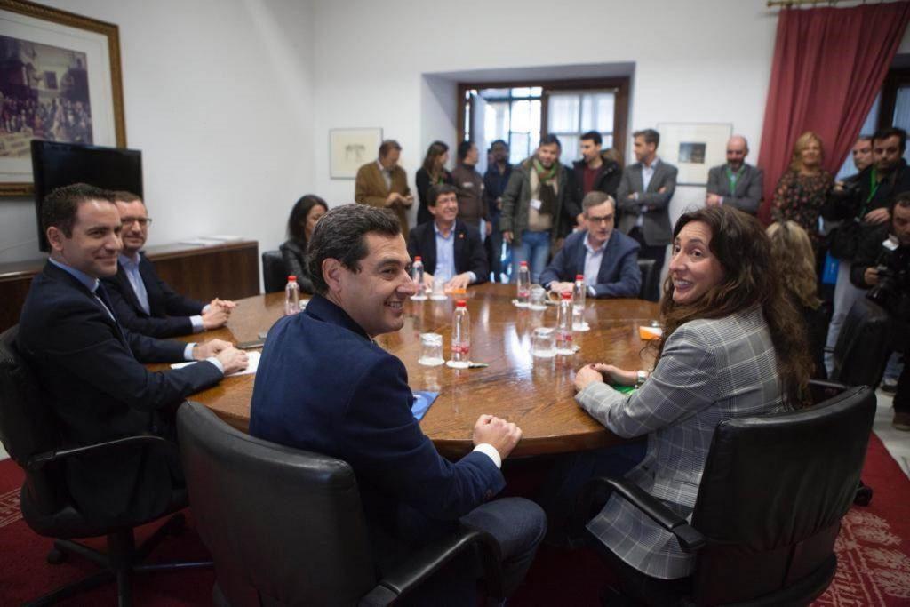 La Comisión Política PP-Cs se reúne este miércoles para negociar la conformación de la Mesa y la investidura andaluza