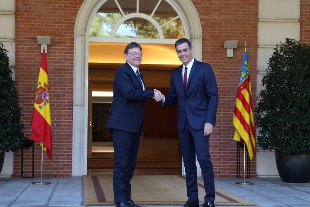 Puig anuncia que la primera comisión bilateral de la democracia entre Gobierno y la Generalitat Valenciana será en enero