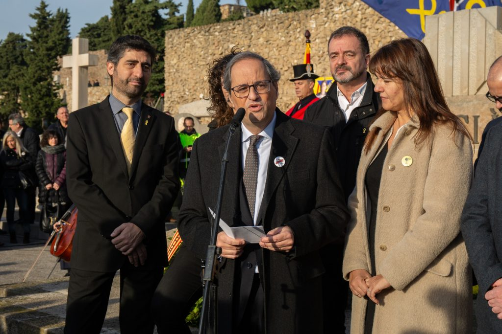 Torra responde al Rey que en Cataluña no hay un problema de convivencia sino «de democracia y de justicia»