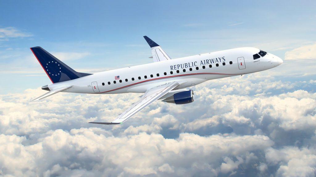 Republic Airways encarga 100 jets a Embraer, valorados en unos 4.100 millones