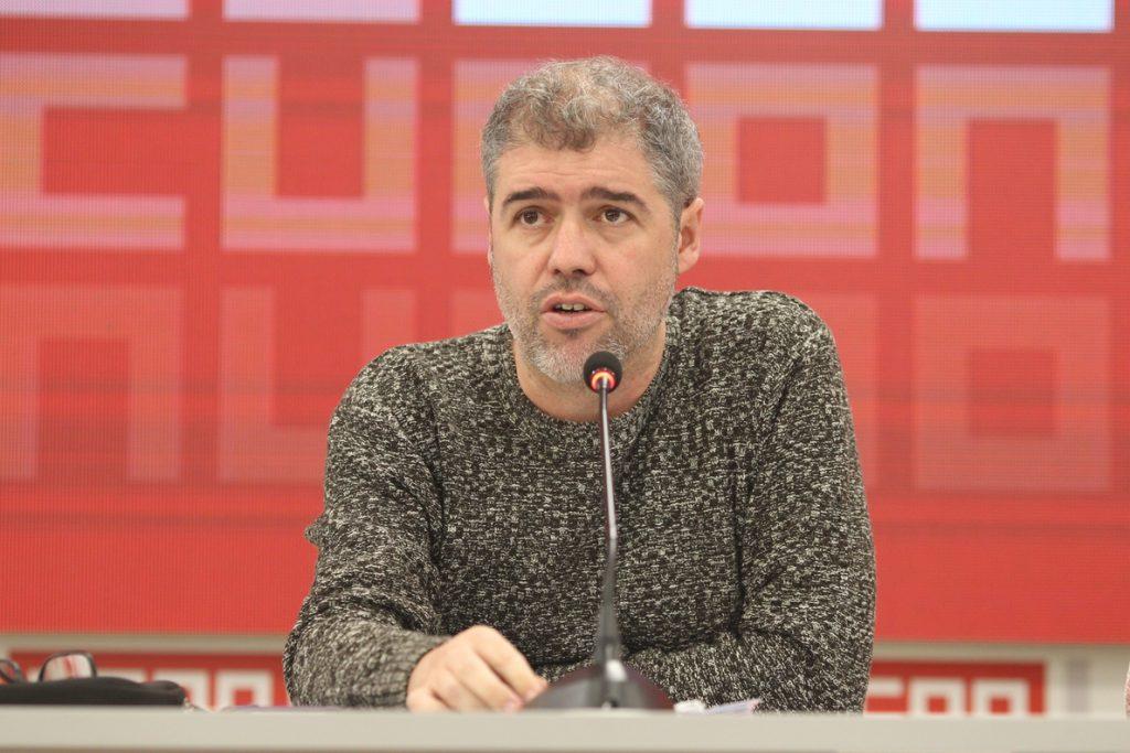 Sordo cree que Sánchez «no tiene margen para pasar por la legislatura sin corregir la reforma laboral»