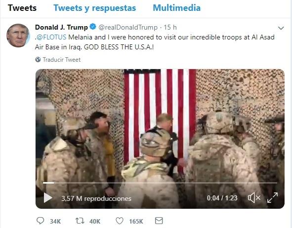Un vídeo difundido por Trump en Twitter desvela el despliegue de un equipo de los SEAL en Irak, según 'Newsweek'