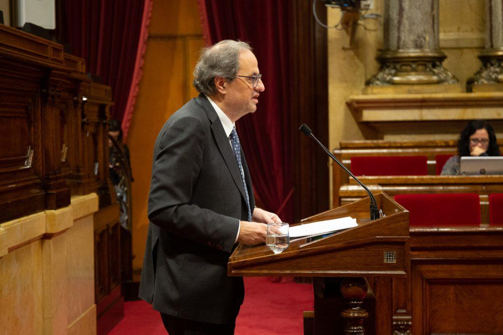 Torra recupera este domingo el discurso de fin de año tras la ausencia en 2017 por el 155